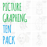Picture Graphing (Ten Pack): Plotting Points on a Coordinate Plane