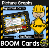 Picture Graphs BOOM Cards:  Construction theme