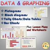 Count & Graph - Pictographs Block Graphs Bar Graphs Tallying Worksheets & PPT