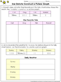 Picture Graphs: Use Data to Construct a Picture Graph Practice Sheets