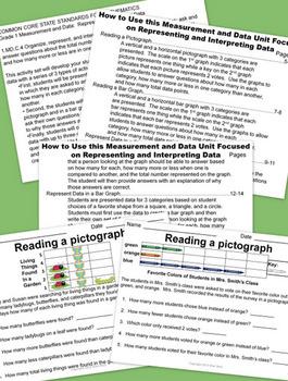 Pictographs and Bar Graphs - Grade 1