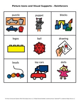 Picture Icons and Visual Supports – Reinforcers (Set 4)