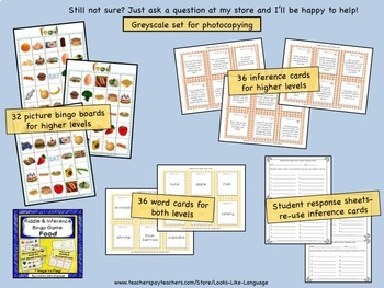 Inference Picture Games Bundle: Riddles for School and Food