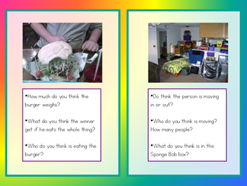 Picture Inferencing Task Cards