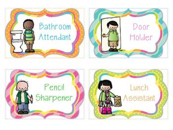 Picture Job Cards {Pocket Chart}