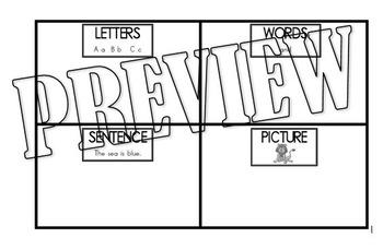 Picture Letter Word Sentence Sort