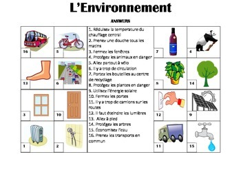 FRENCH - Picture Match - L'Environnement (The Environment)