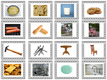 Picture Matching Cards Identify Related Objects 36 pairs