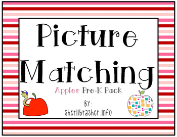 Picture Matching: Pre-K Apples Pack