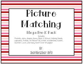 Picture Matching: Pre-K MEGA Pack {BUNDLE Save 20%}