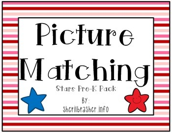 Picture Matching: Pre-K Stars Pack