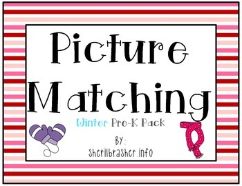 Picture Matching: Pre-K Winter Pack