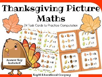 Thanksgiving Picture Math Task Cards