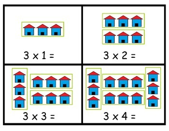 Picture Multiplication Flashcards - Sample