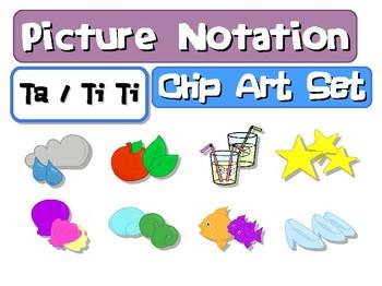 Picture Notation Clip Art Set: Ta/TiTi