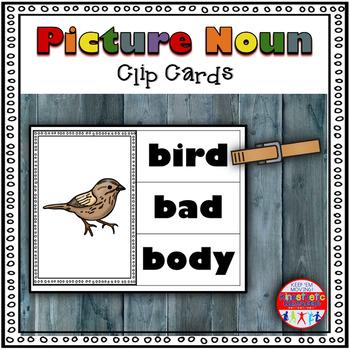 Noun Activity - High Frequency Picture Noun Clip Cards