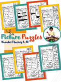 Picture Number Puzzle 0-10 Pirate Day | First Grade Addition