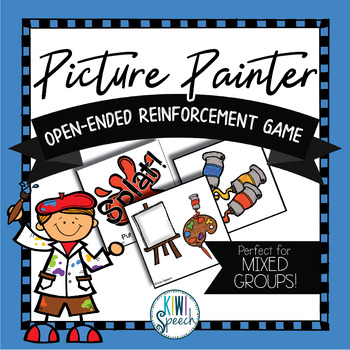 Picture Painter: Open Ended Reinforcement Game: Great for Speech and Language