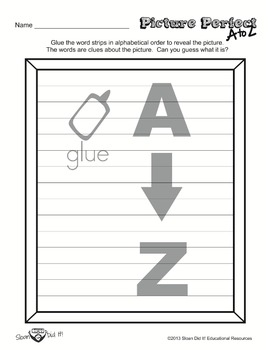 Picture Perfect A to Z - Cupid (Alphabetizing)