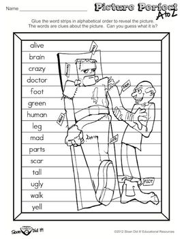Picture Perfect A to Z - Frankenstein (Alphabetizing)