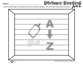 Picture Perfect A to Z - Turkey (Alphabetizing) (Easy)