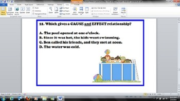 Picture Perfect Cause and Effect Task Cards - Common Core RI.3.8