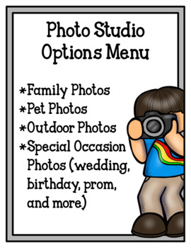 Picture Perfect Photo Studio (Dramatic Play)