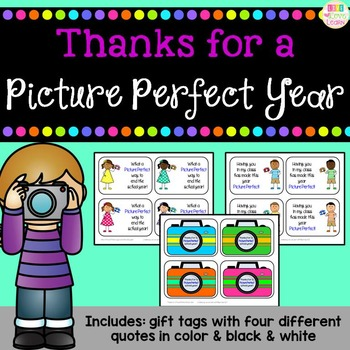 Picture Perfect School Year - End of Year Gift Tags