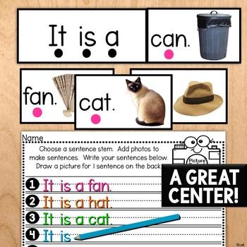 Picture Perfect Sentences- Making CVC Sentences Center