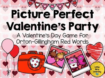 Picture Perfect Valentine's Party Game for Orton-Gillingham Red Words