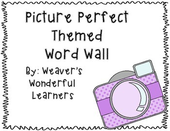 Picture Perfect Word Wall