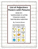 Picture Posters of Adjectives (For Characters)