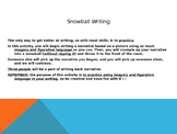 Picture Prompt Descriptive Snowball Writing Activity