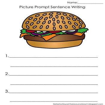 Picture Prompt Writing Activity (No PREP, in color and black and white)