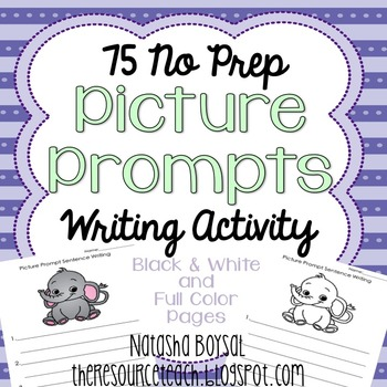 Picture Prompt Writing Activity (No PREP, in color and bla