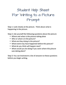 Picture Prompt Writing Prompts