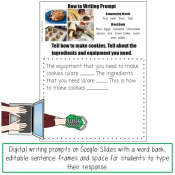 Picture Prompt Writing Task Card Bundle Print and Digital Distance Learning