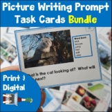 Picture Writing Prompts Task Card Bundle Print and Digital