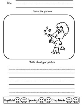 Picture Prompt Writing for Kindergarten