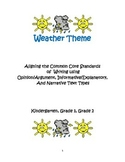 Picture Prompts: Weather; Aligning Common Core Writing wit