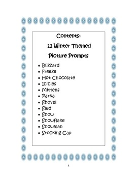 Picture Prompts:  Winter Theme -  Aligning Text Types to Core Writing Standards