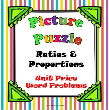 Picture Puzzle Unit Price Word Problems...Puzzles + Art + Numbers = AWESOME!