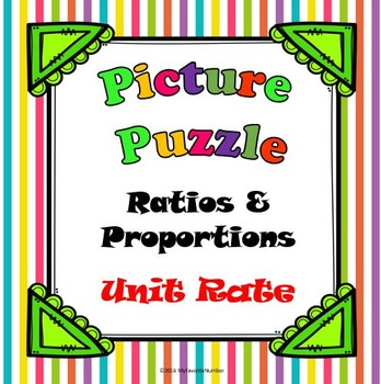 Picture Puzzle Unit Rate Activity...Puzzles + Art + Numbers = AWESOME!