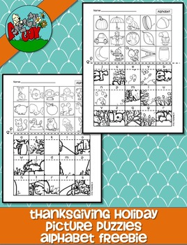 Picture Puzzles - Alphabet Letter Sound /Thanksgiving / November