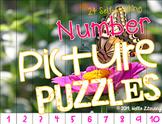 Picture Puzzles:Math Center {Number Edition} Vol. 1, 24 Self-Checking Puzzles