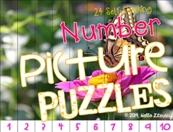 Picture Puzzles:Math Center {Number Edition} Vol. 1, 24 Se