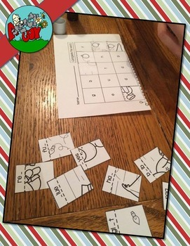 Christmas Winter Holiday Match the Words that Rhyme Picture Puzzles