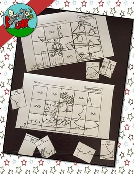 Christmas  Winter Holiday Multiplication / Division Picture Puzzles