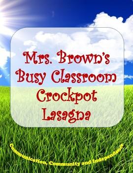Picture Recipe:  Crockpot Lasagna