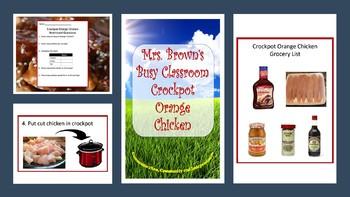 Picture Recipe:  Crockpot Orange Chicken